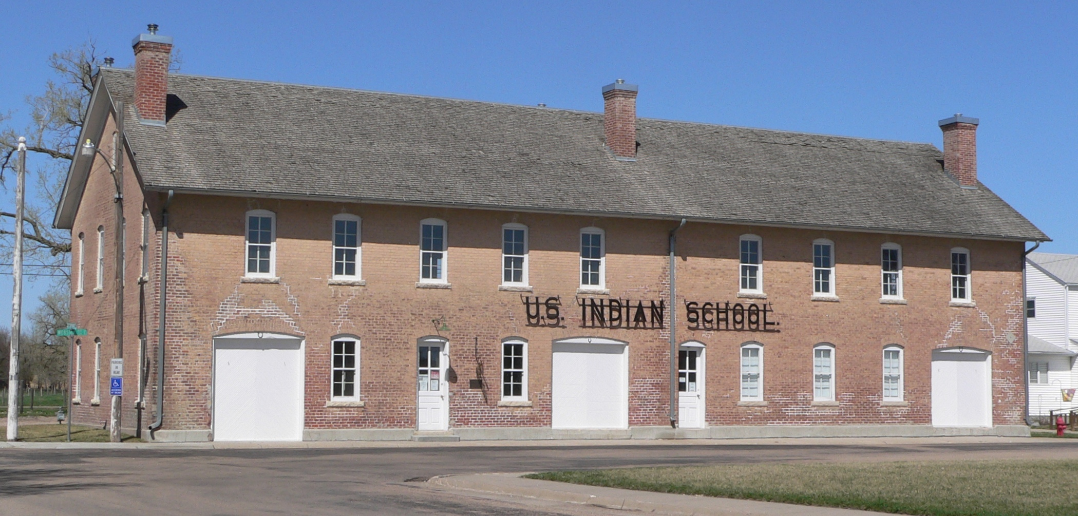 Former Genoa Manual Training Building, Current Genoa Indian School Museum.